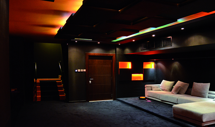 home theater projectors Interior installation